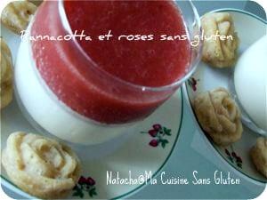 Pannacotta et coulis de fraises sans gluten