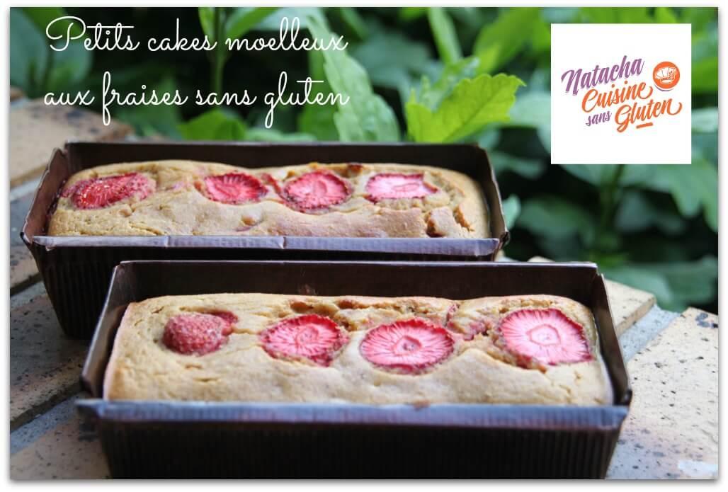 Petits cakes moelleux aux fraises sans gluten