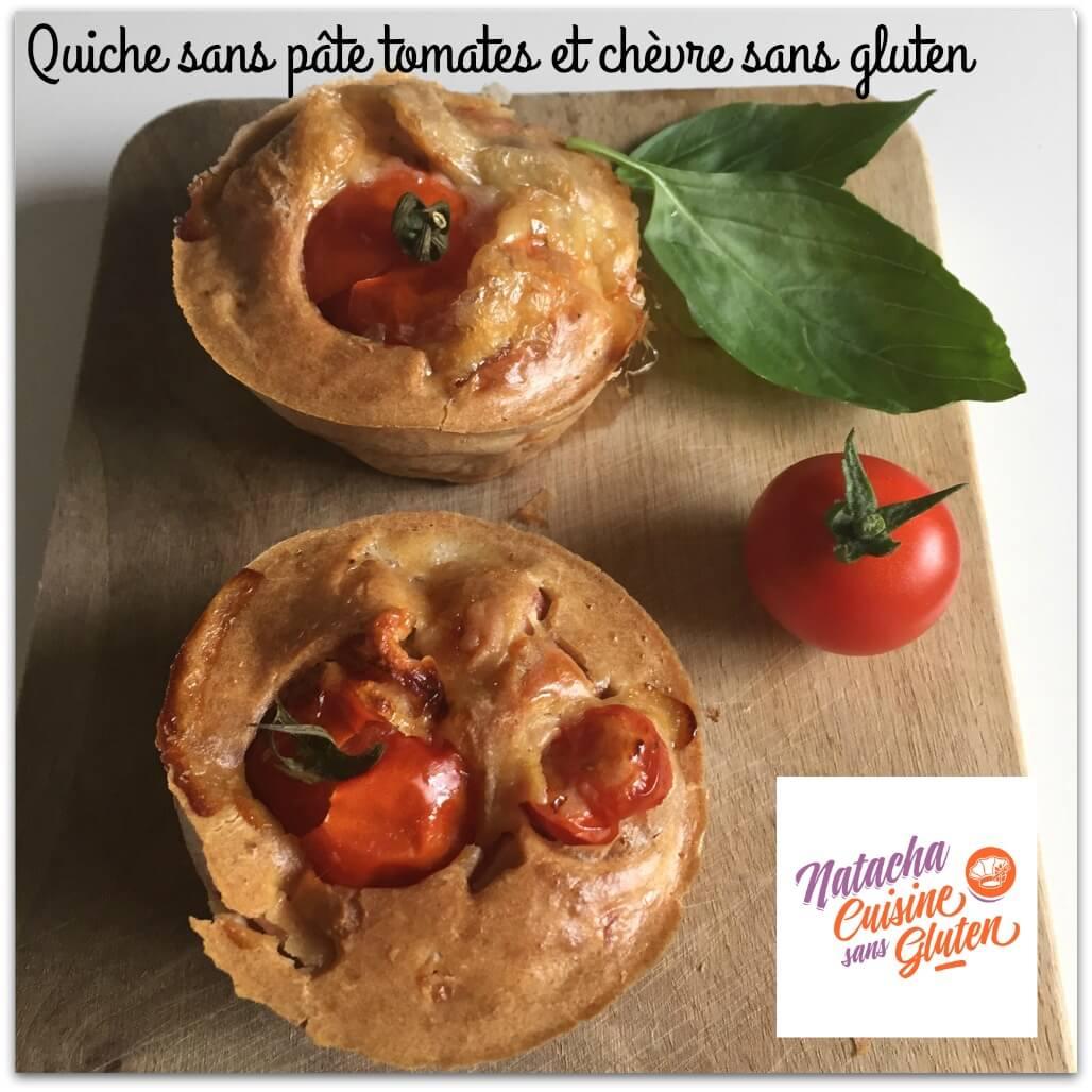 Quiche sans pâte tomates et chèvre sans gluten