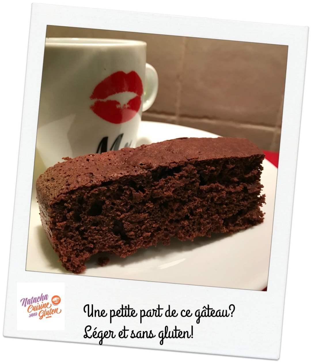 Gateau au chocolat sans gluten et sans lactose