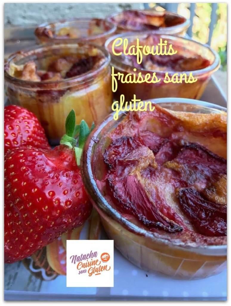 Clafoutis aux fraises sans gluten