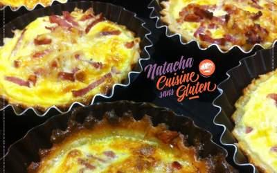 Mini Tarte salée bacon sans gluten (pâte Biobleud)