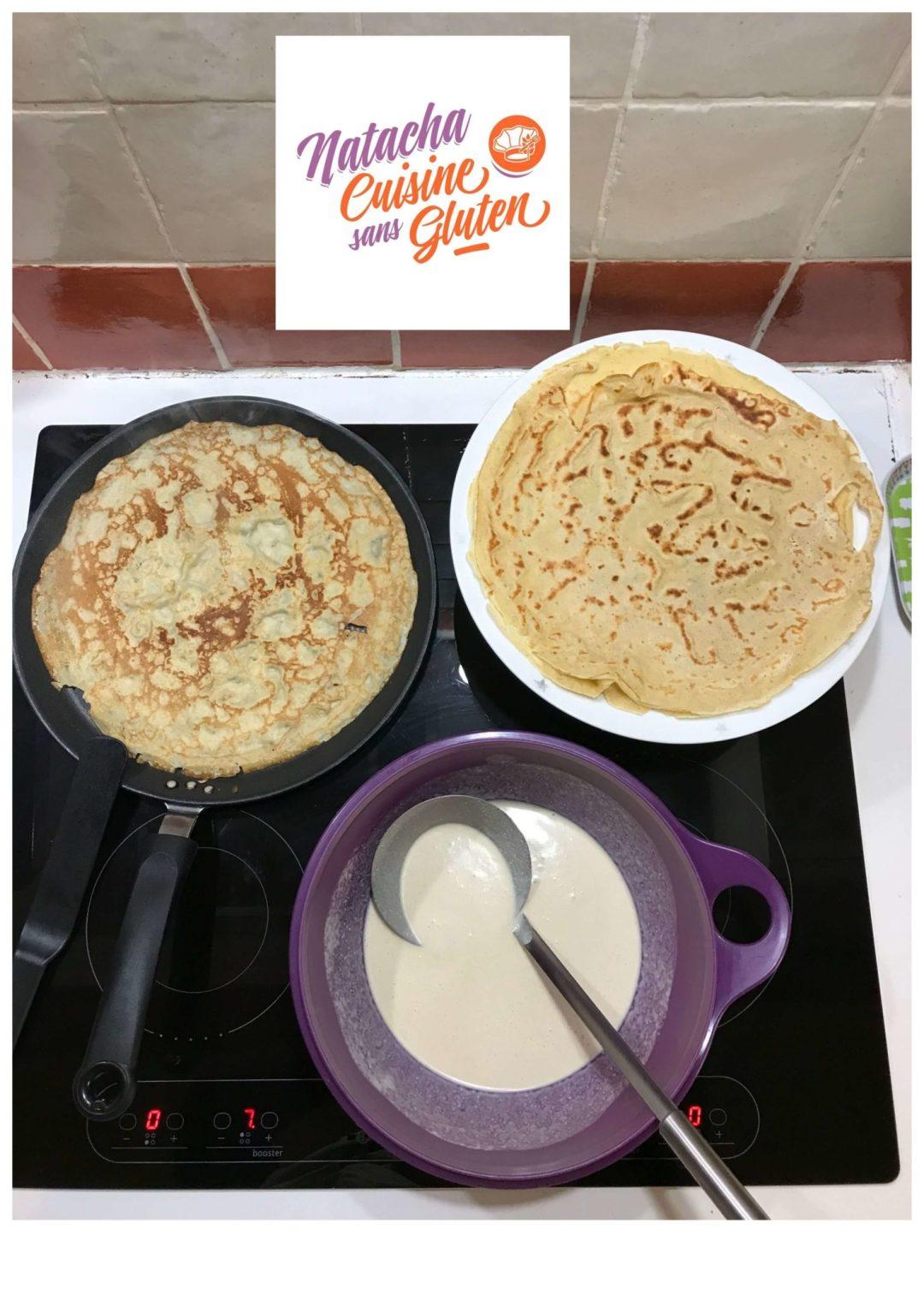 Crêpes sans gluten faciles au blender