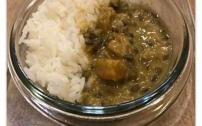 Curry de lentilles et butternut sans gluten