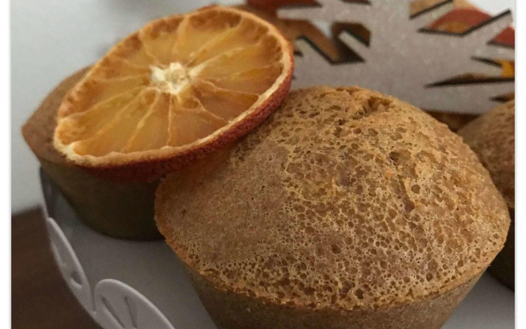 Muffins clémentines et épices de Noël sans gluten