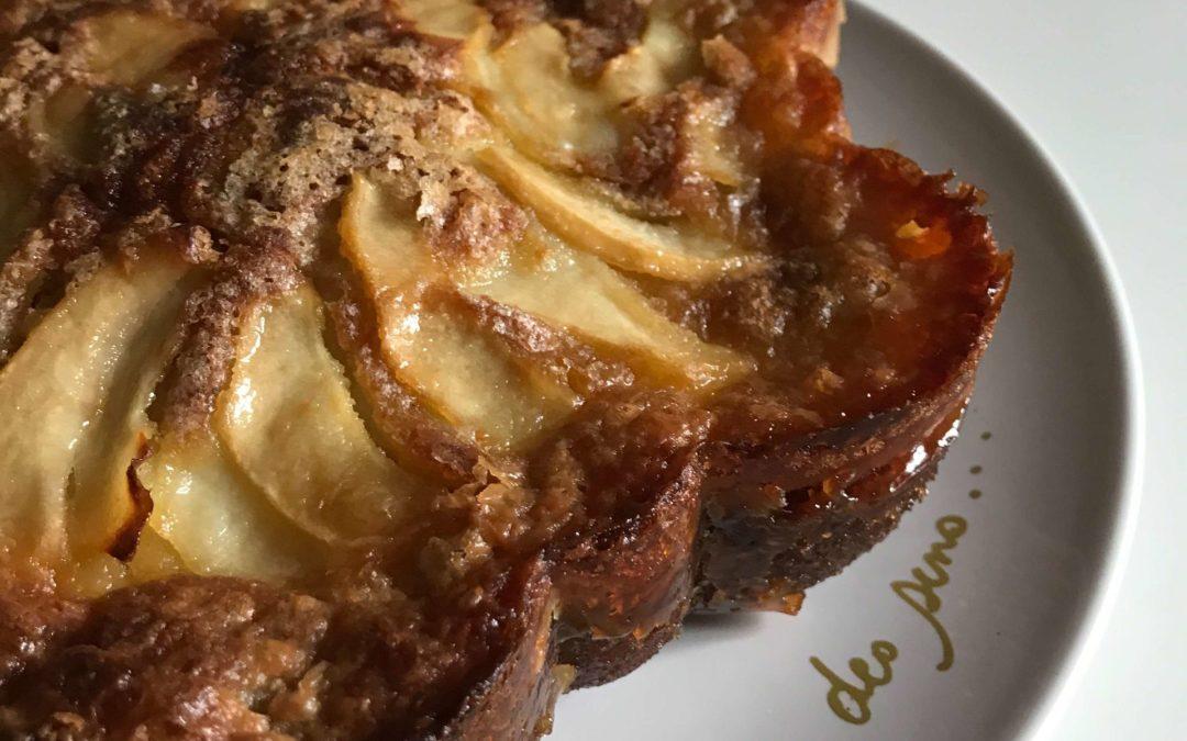 Gâteau moelleux aux poires sans gluten