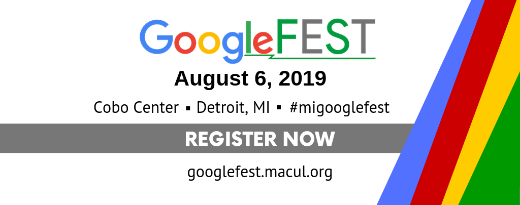 GoogleFEST 2019 is August 6 in Detroit MI