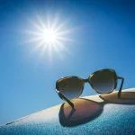 brown framed sunglasses