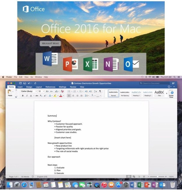 Microsoft Office For Mac 2016 15.22 With Crack