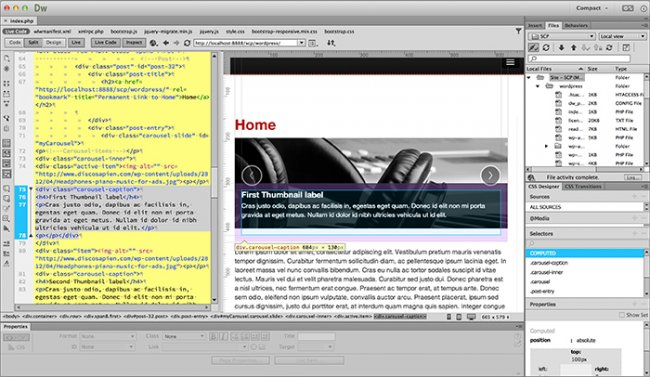 Adobe Dreamweaver CC Crack For Mac OS X
