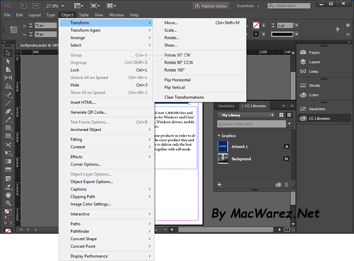 key Feature Adobe InDesign CC 2018 13.0.0.125 Mac