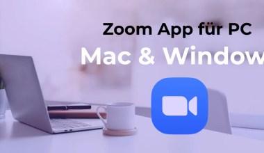 Zoom App für PC Mac Windows