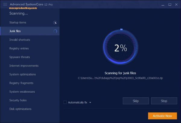 Advanced SystemCare PRO 12.5.0.355 Crack + Serial Key Free Download