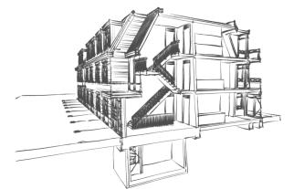Schetsontwerp-Appartementen