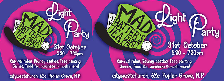 Liardet Board Creative. Mad hatter's tea party. Light Party. Carnival rides, bouncy castles, face painting, games, food for purchase and much more.