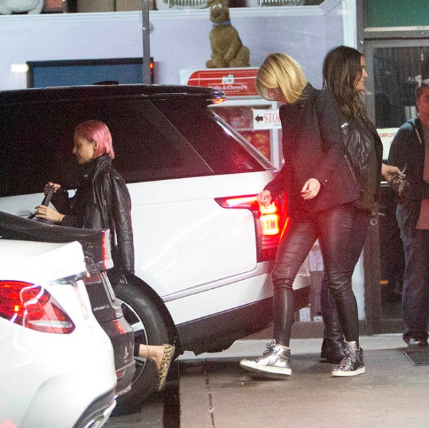 Cameron Diaz, Gwyneth Paltrow, Nicole Richie and Drew Barrymore were seen leaving dinner at Katsuya Restaurant together in Studio City, CA