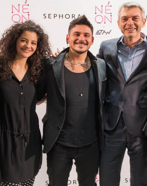Celina Gomes, Media PR & Digital Coordinator της Sephora, STAN, Γιώργος Βερύκιος, Διευθύνων Σύμβουλος της Sephora
