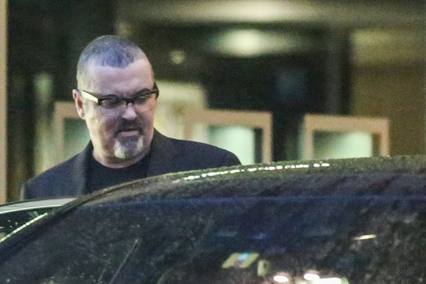 EXCLUSIVE: **PREMIUM RATES APPLY**NO WEB UNTIL 00:01 GMT JUNE 18TH** George Michael is seen out and about in Zurich