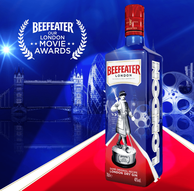 Beefeater Our London Movie Awards limited edition bottle