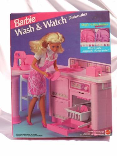 Barbie with Wash-N-Watch Dishwasher