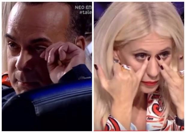 """Κλάματα στο """"Ελλάδα Έχεις Ταλέντο"""" – Λύγισαν Σεργουλόπουλος και Μπακοδήμου! (βίντεο)"""