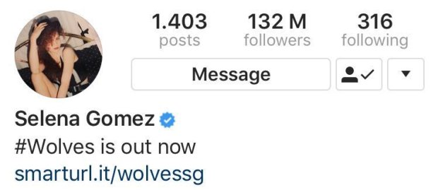 Selena Gomez στο Instagram