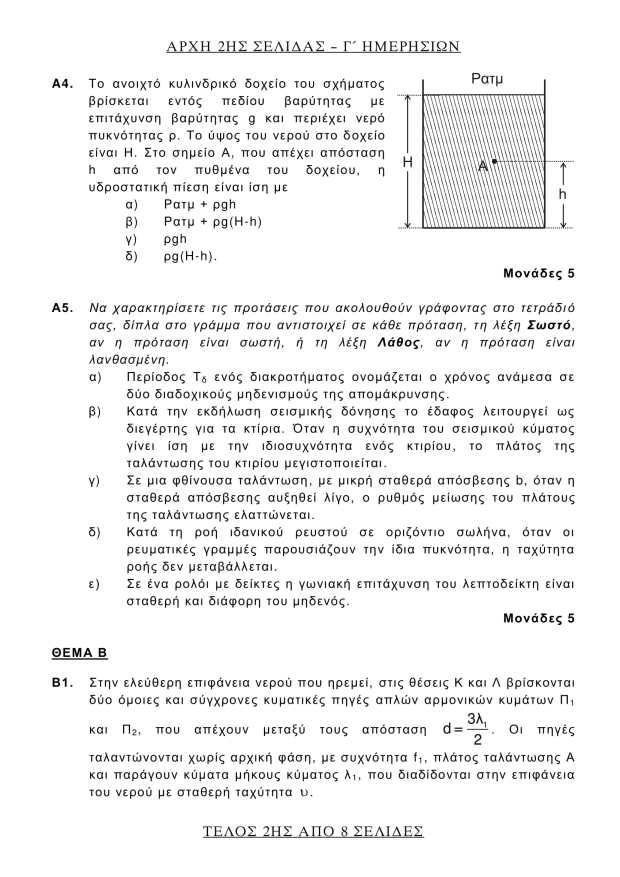 Θέματα των Μαθηματικών στις Πανελλήνιες 2018