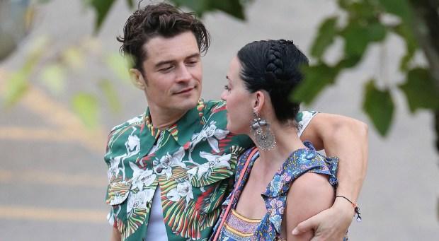 κοινή εμφάνιση της Katy Perry και του Orlando Bloom