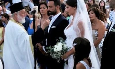 γάμο του Σάκη Τανιμανίδη και της Χριστίνας Μπόμπα