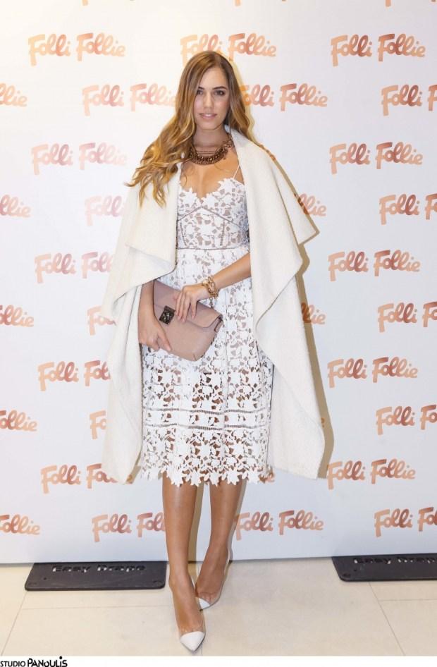 Η Amber Le Bon ταξίδεψε από το Λονδίνο για την παρουσίαση του νέου Folli Follie Concept Store, με κοσμήματα και αξεσουάρ Folli Follie