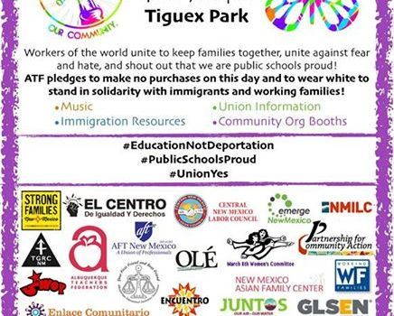 Come to the May Day Rally and support our families