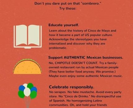 Here is a list of ways to celebrate Cinco de Mayo …