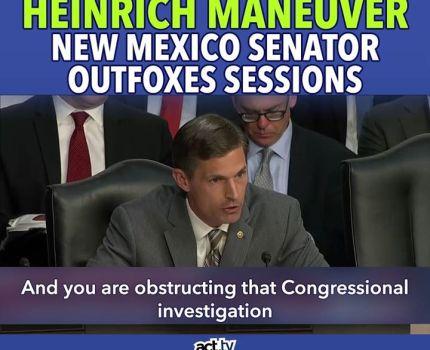Senator Heinrich outfoxes the fox during his …