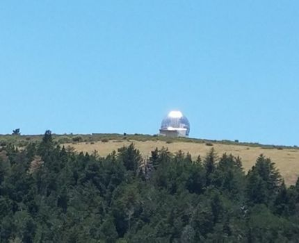 The drive up to Magdalena Ridge Observatory. …