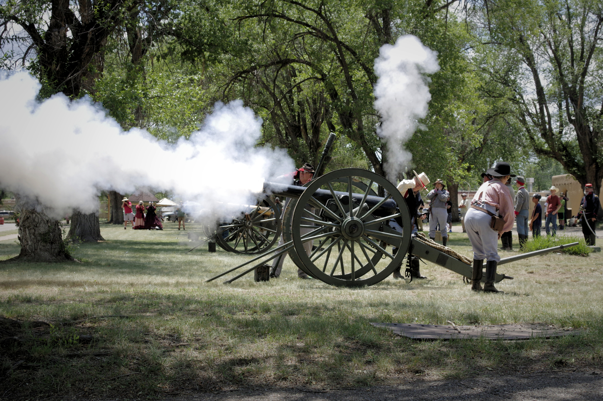 Fort Stanton State Monument, in Lincoln County, attracts many tourists through reenactments and educational programs