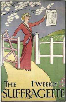 The Suffragette newspaper poster, art by Mary …