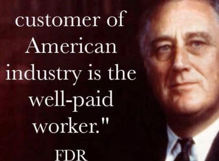 Well paid workers are a thing of the past. If we …