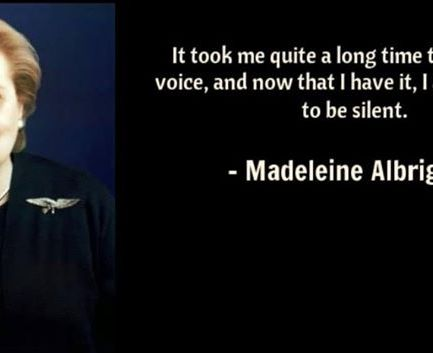 Madeleine Albright is hero to our daughters.