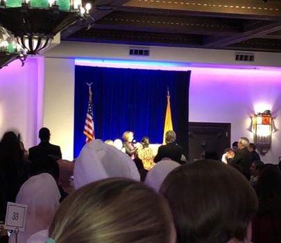 Governor Michelle Lujan Grisham addresses the …
