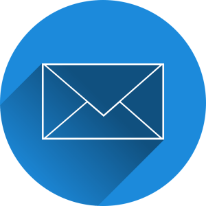Mail icon in a blue circle