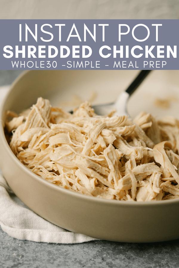 pinterest image for shredded chicken recipe