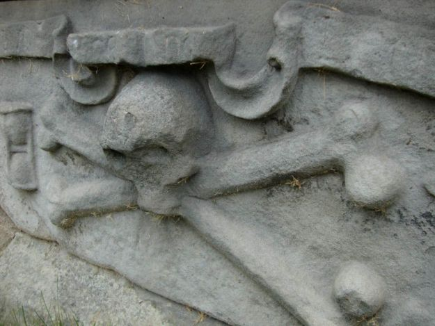 Lápida funeraria de la catedral de Saint Andrews