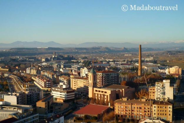 Vistas de Monzón desde el castillo