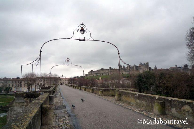 La Cité de Carcassonne vista desde el Pont Vieux