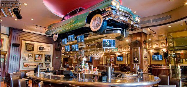 Barra circular en Hard Rock Café de Barcelona