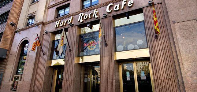 Fachada del Hard Rock Café de Barcelona