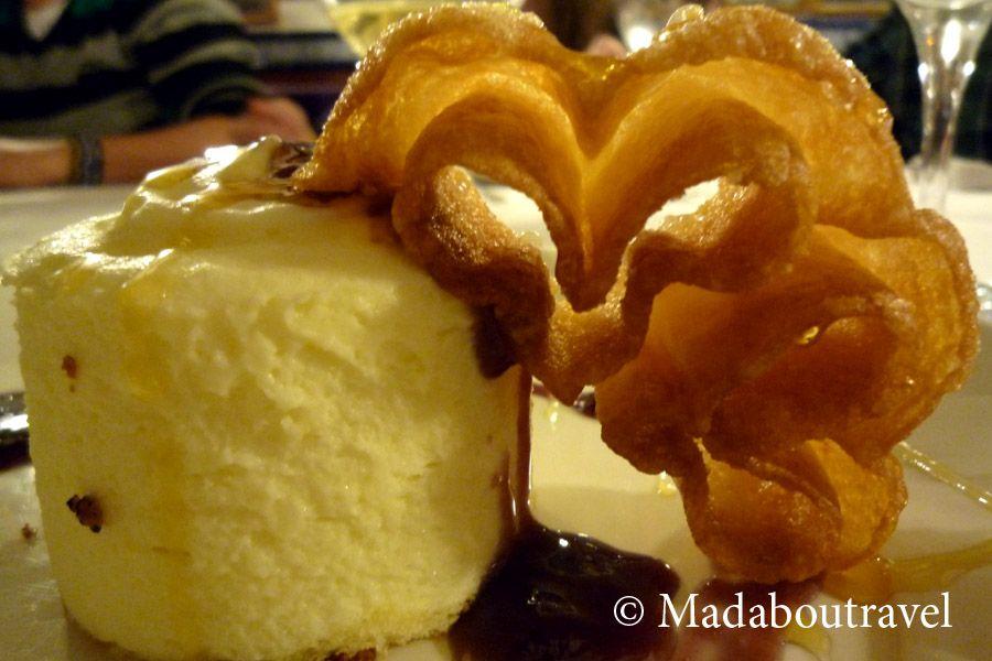Mousse de queso manchego en el restaurante El Callejón, Albacete