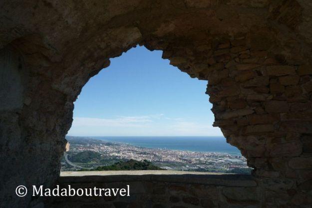Vistas del Maresme desde el Castell de Burriac, Cabrera de Mar