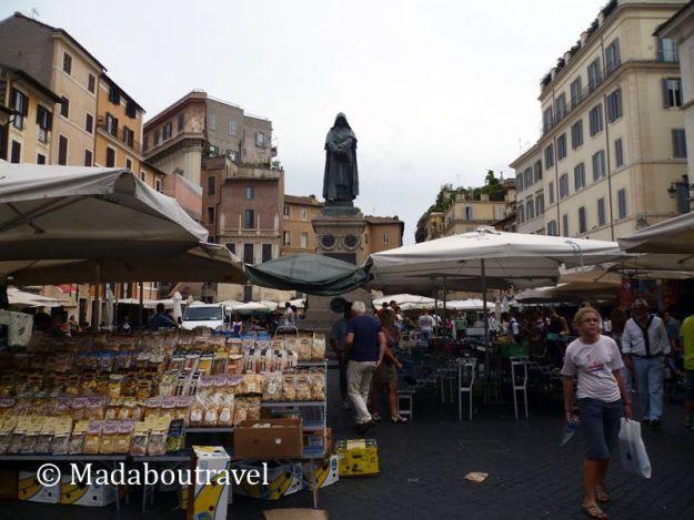 Mercado en el Campo de' Fiori, Roma
