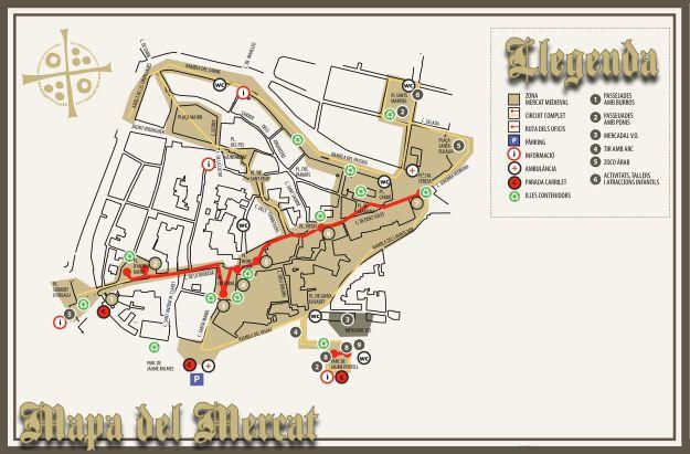 Plano del Mercat Medieval de Vic